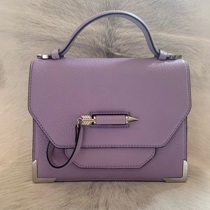 Mackage Keeley Leather Crossbody Bag Lilac New!